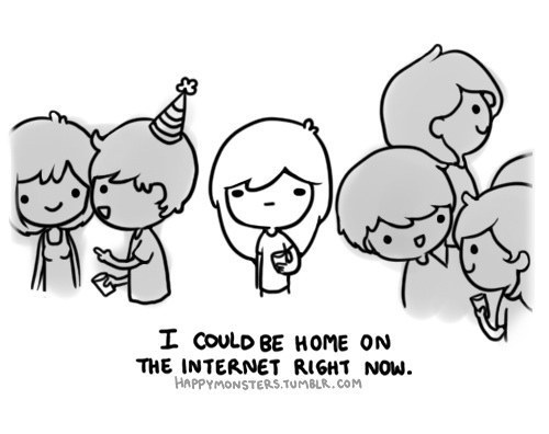 introvert at party